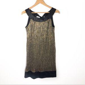 ENFOCUS STUDIO Gold Shimmer Mimi Dress Size 6